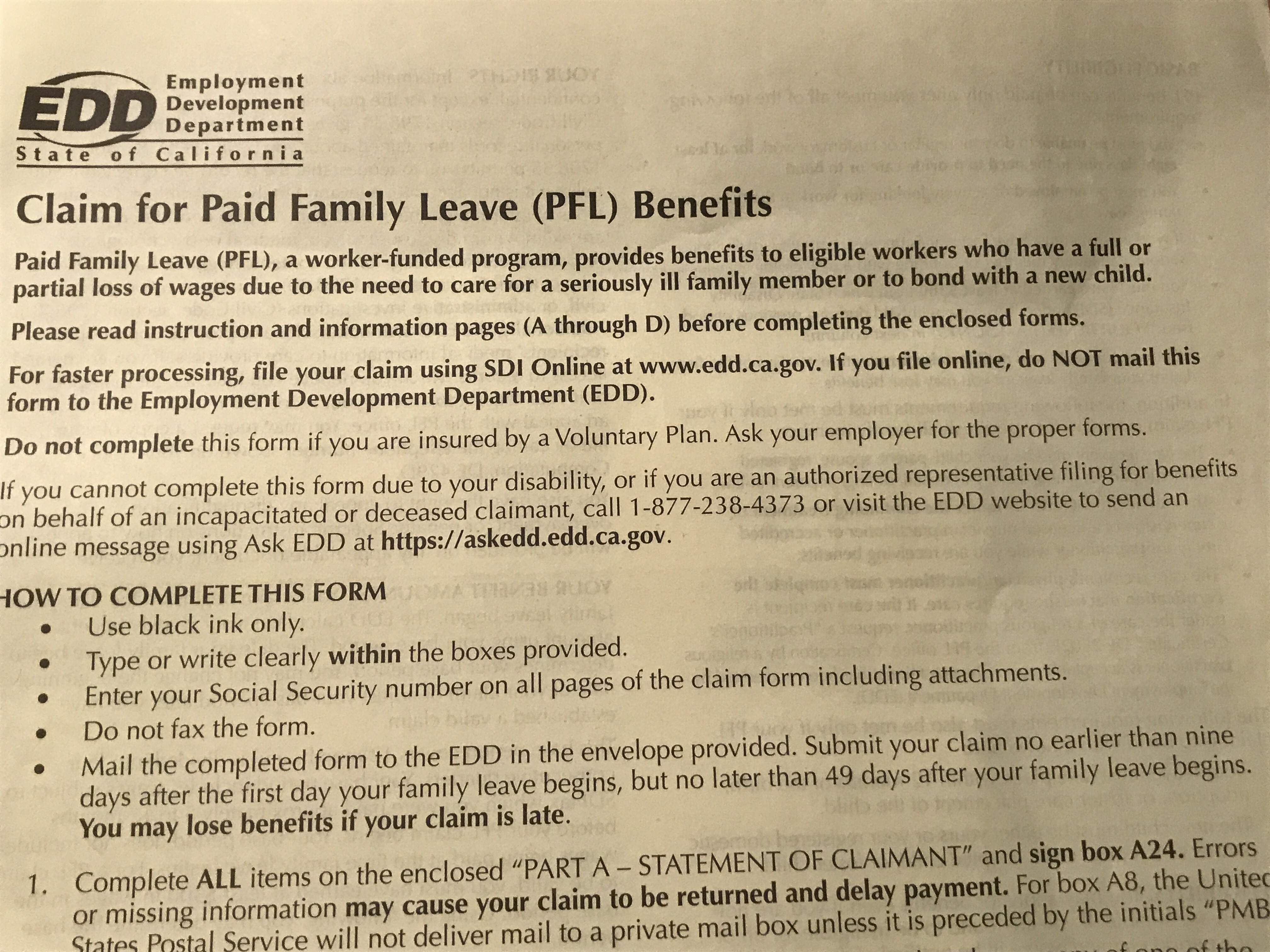 pregnancy disability and paid family leave information session