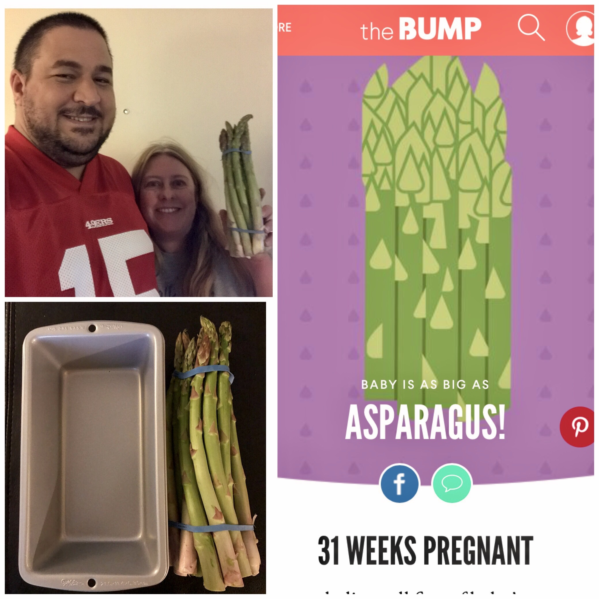 Our Baby at 31 Weeks – The Size of Asparagus – Over 40 First
