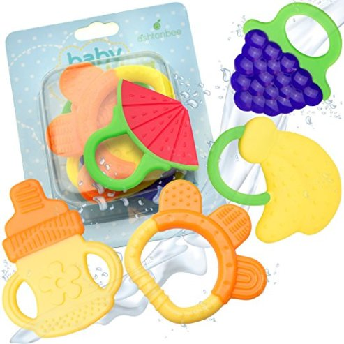 BPA Free Natural Organiz Freeer Safe Teether by Ashtonbee
